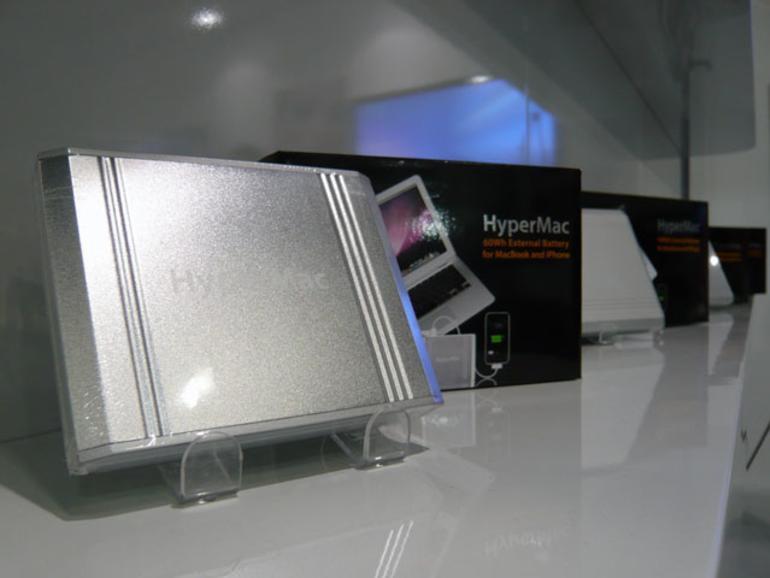 <b>HyperMac:</b> Die Akku-Pakete versorgen Notebooks, iPads, iPhones und iPods mit zusätzlichem Strom