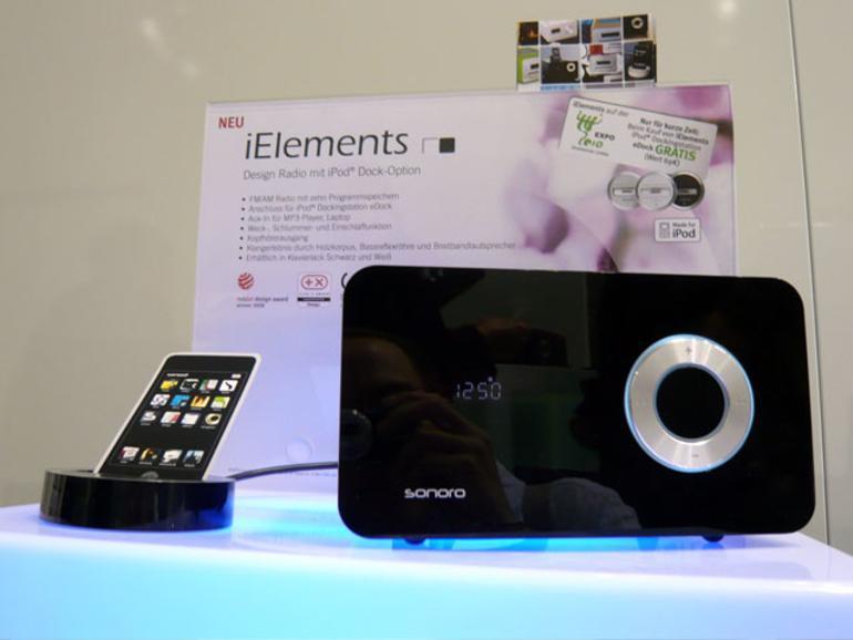 <b>Sonoro iElements mit Dock:</b> Paketpreis für 199 Euro während der Expo-Weltausstellung in Shanghai