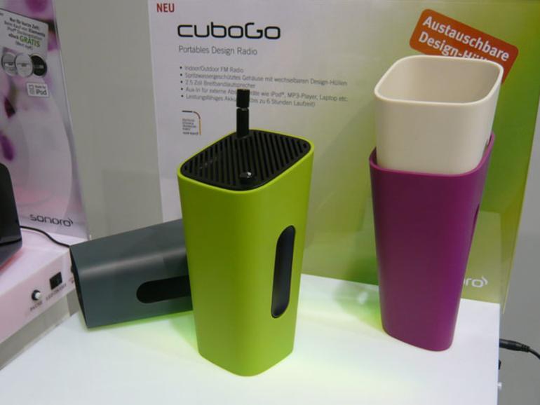 <b>Sonoro Cube Go:</b> Kompaktradio mit Wechsel-Hüllen