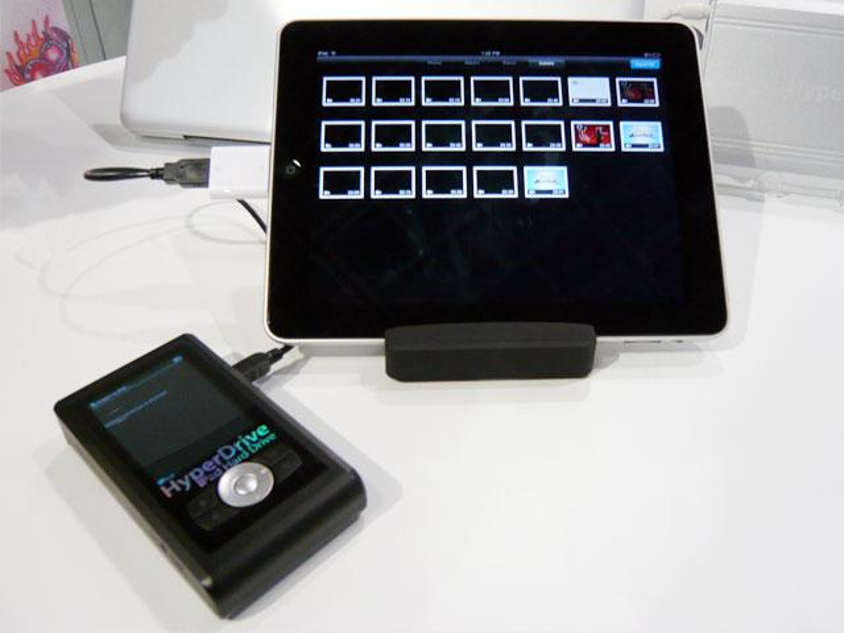 <b>iPad-Festplatte:</b> Stellt Medien für den iPad-Import zur Verfügung
