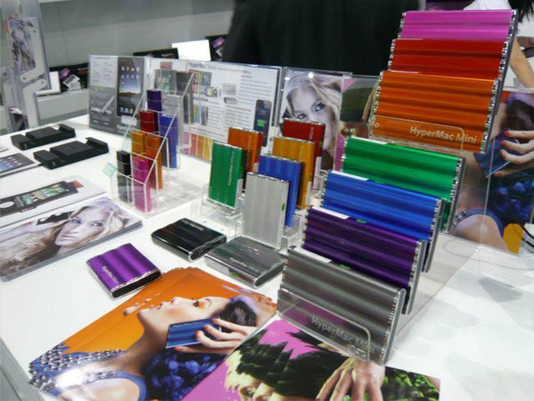 <b>Von links nach rechts:</b> HyperMac Nano, Micro und Mini in verschiedenen Farben