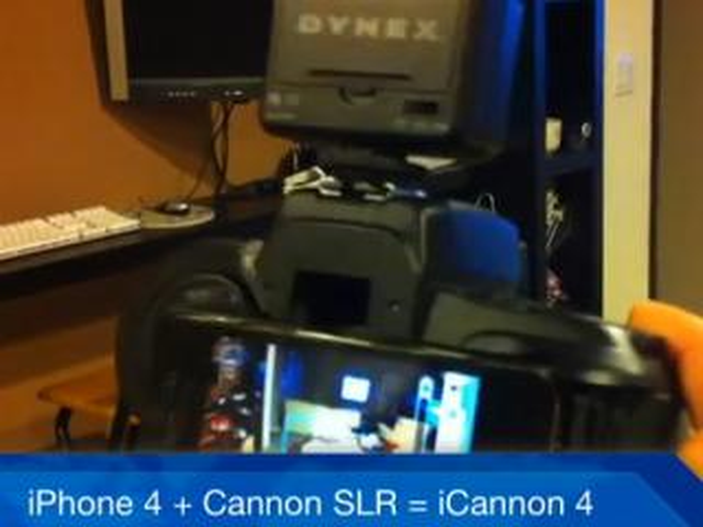 iPhone 4 in einem Canon-SLR-Gehäuse