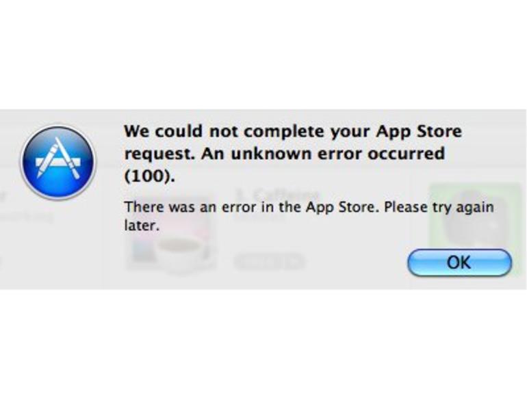 """Mac App Store: So löst man das Problem mit """"Fehler 100"""""""