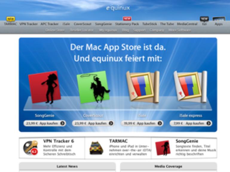 Equinux mit vier Apps im Mac App Store