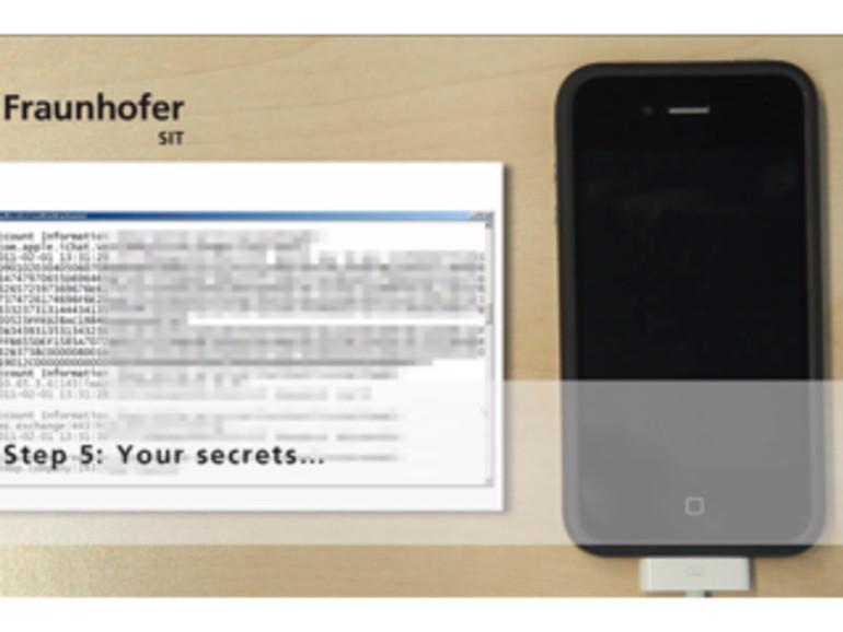 Fraunhofer Institut: Passwörter im iPhone unsicher, Jailbreaks ein Sicherheitsproblem