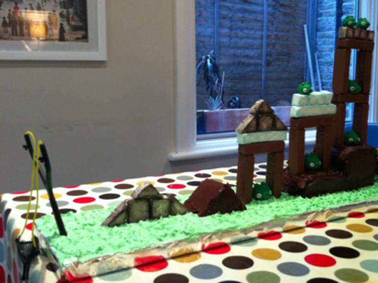 Angry Birds wird zum spielbaren Geburtstagskuchen