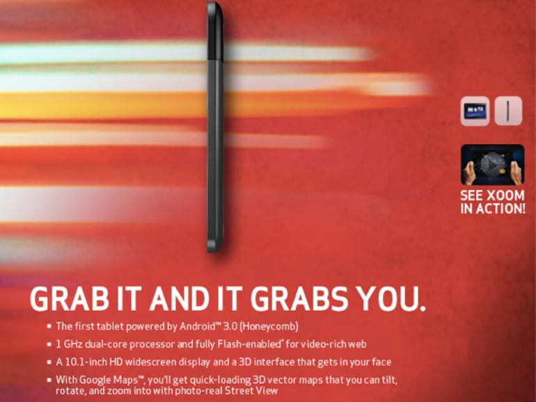 Auch Motorolas Xoom-Tablet (vorerst) ohne Flash
