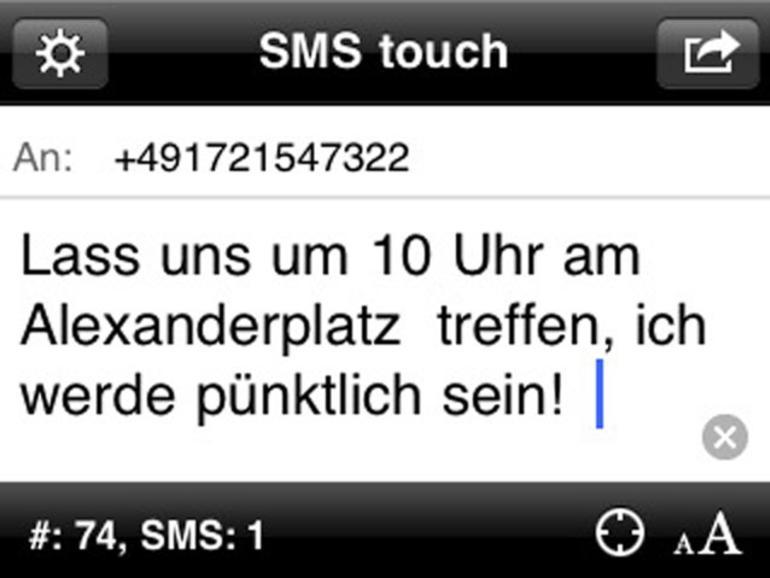 SMS mit iPod touch und iPad versenden