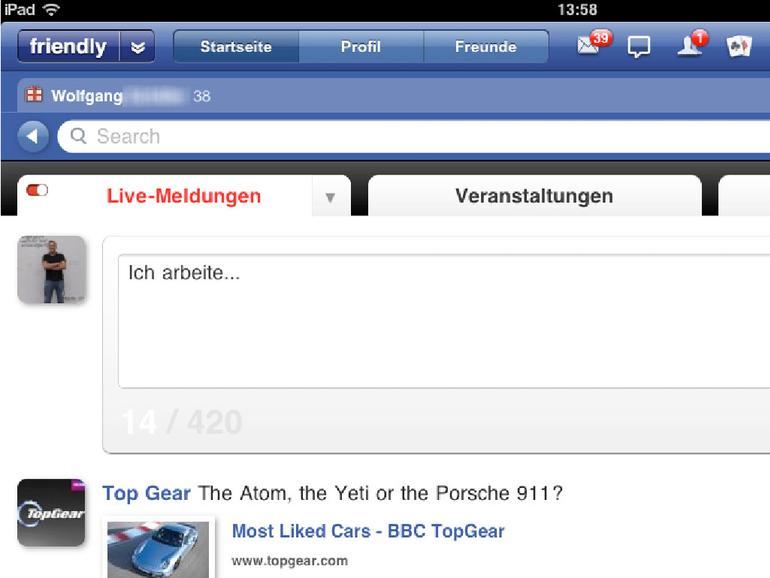 Facebook auf dem iPad nutzen