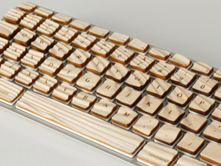 CreativeBits zeigt Tastatur-Aufsatz aus Holz