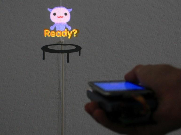 MotionBeam: iPod touch mit Projektor als Spielgerät