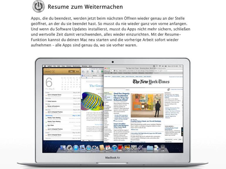 Os X Lion Resume Funktion Mit Tücken Mac Life