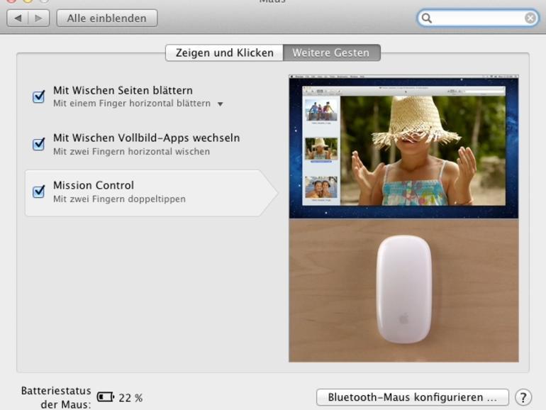 OS X Lion: Neue Gesten für die Magic Mouse
