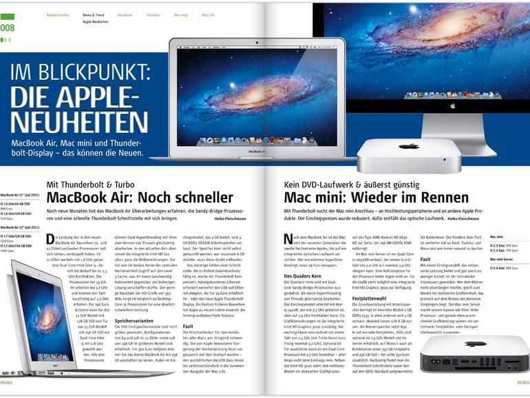 Mac Life 09.2011 jetzt als PDF laden – Neu für Abonnenten: Gratis-Download über die Mac Life iPad-App