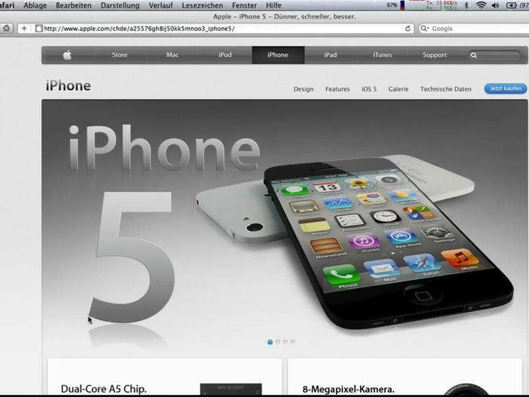 """iPhone 5: Website-Fälschung zeigt """"neues Apple-Smartphone"""""""