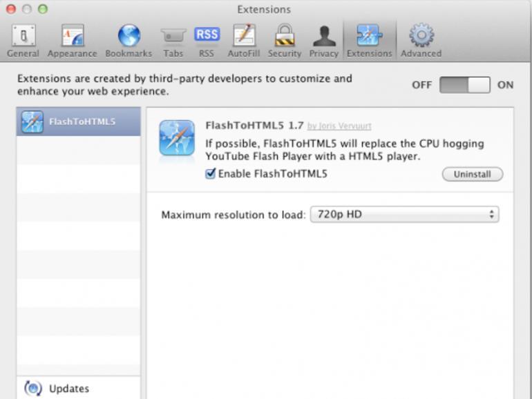 FlashToHTML5: Safari-Erweiterung verspricht YouTube ohne Flash