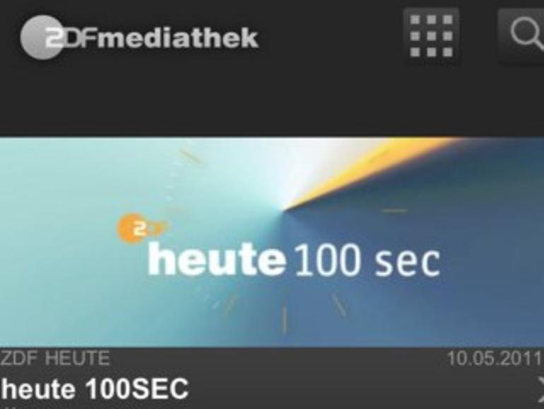 ZDFmediathek: Jetzt auch als iPhone- und iPad-App