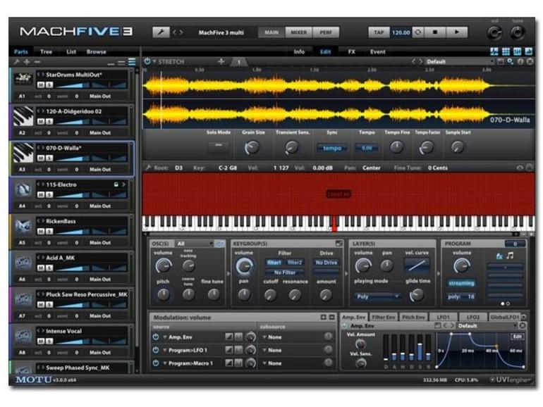 Mach Five 3: Mächtiger Software-Sampler von Motu