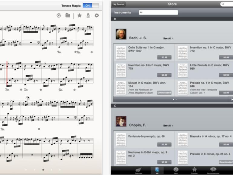 Tonara: iPad-App verwandelt Tablet in interaktives Notenblatt