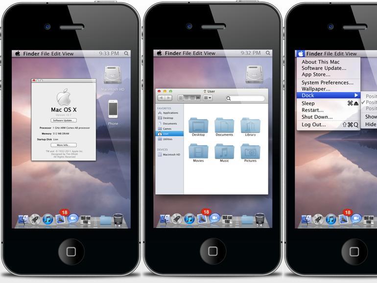 Für Jailbreaker: OS X Lion Ultimatum bringt Lion-Benutzeroberfläche auf das iPhone