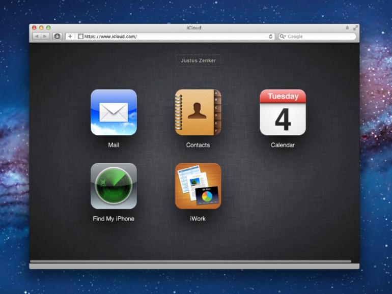 iCloud.com: So sieht der Online-Dienst im Browser aus
