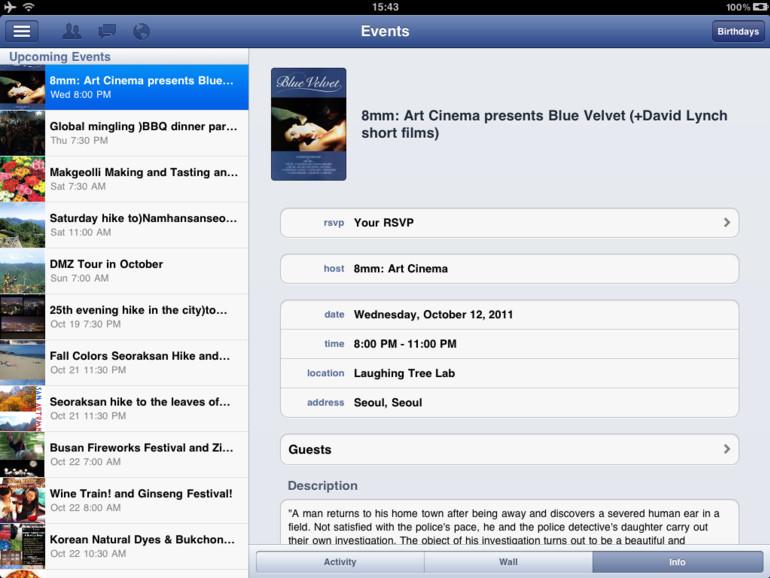 Facebook veröffentlicht iPad-App