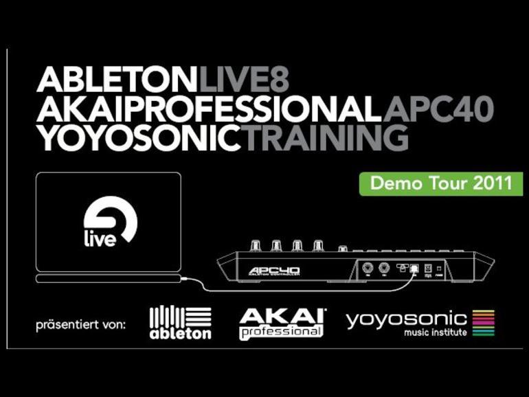 Live-Demo-Tour von Ableton, Akai Professional und yoyosonic music institute