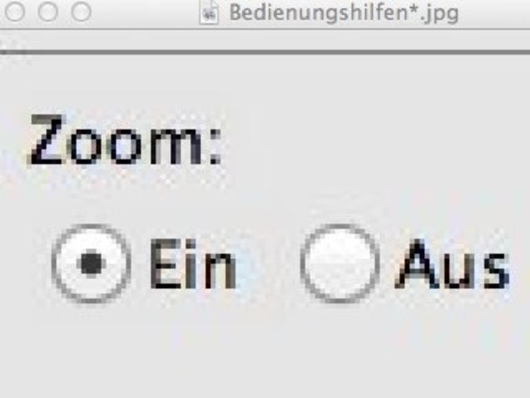 OS X Lion: Bildschirmvergrößerung aktivieren