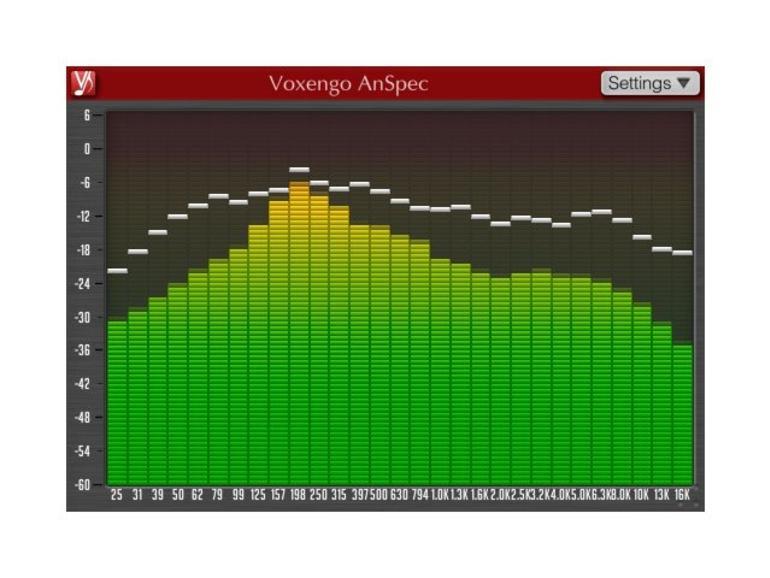 Voxengo AnSpec: Kostenloser Spektrum-Analyzer