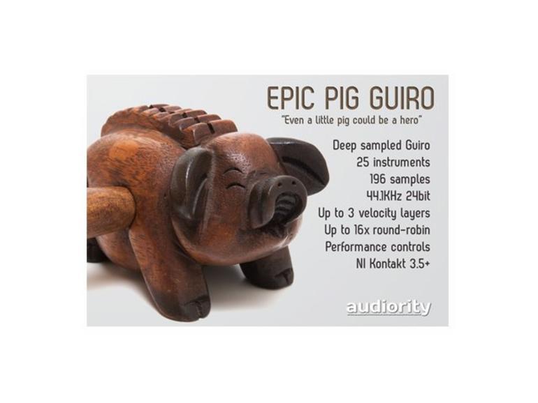 The Epic Pig Guiro: Kontakt-Instrument für Kino-Sounds
