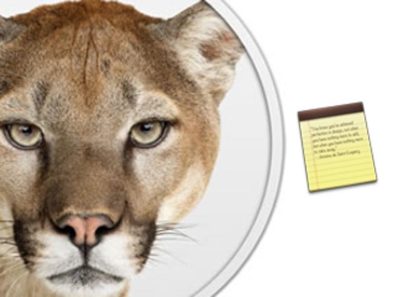 OS X Mountain Lion: Die neue Notizen-App