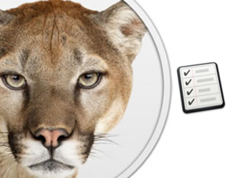Erinnerungen: To-Do-Listen-App in OS X Mountain Lion