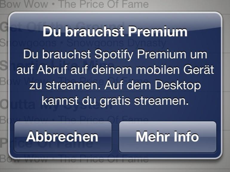 Spotify für iPhone und iPad demnächst kostenlos?