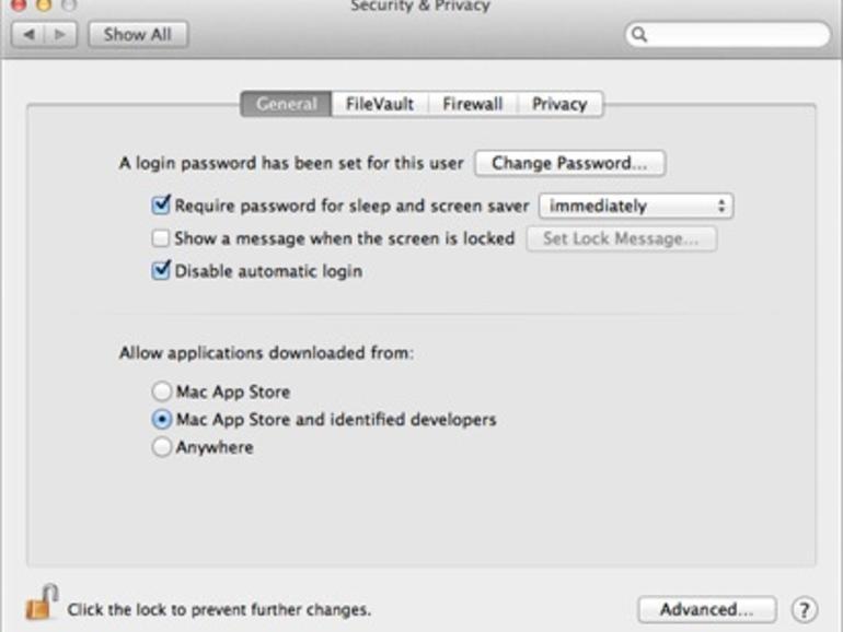 """<b>Gatekeeper, der """"Torhüter"""": </b>Ob nur Apps aus dem Mac App Store, Apps aus dem Store und Anwendungen von registrierten Entwicklern oder alle Programme. Apple überlässt dem Anwender die Qual der Wahl"""