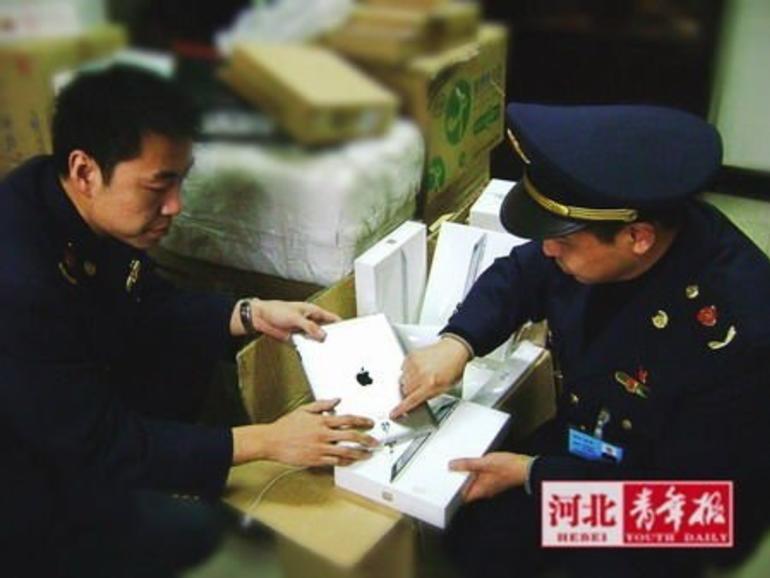 Chinesische Behörden beschlagnahmen iPads bei Händlern.