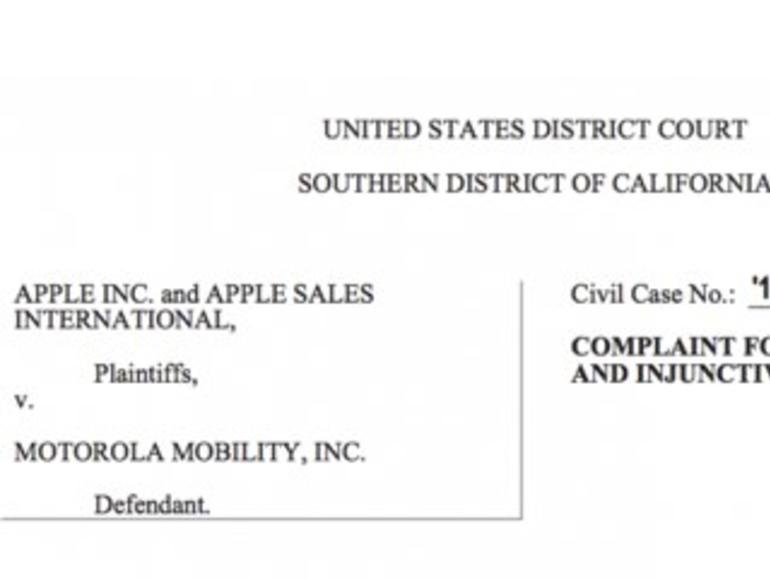 Apple klagt in den USA gegen Motorola
