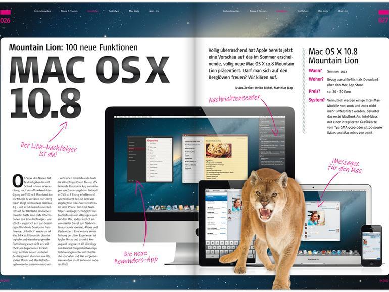 Mac Life 04.2012: OS X 10.8 Mountain Lion, Macs perfekt vernetzt u. v. m.