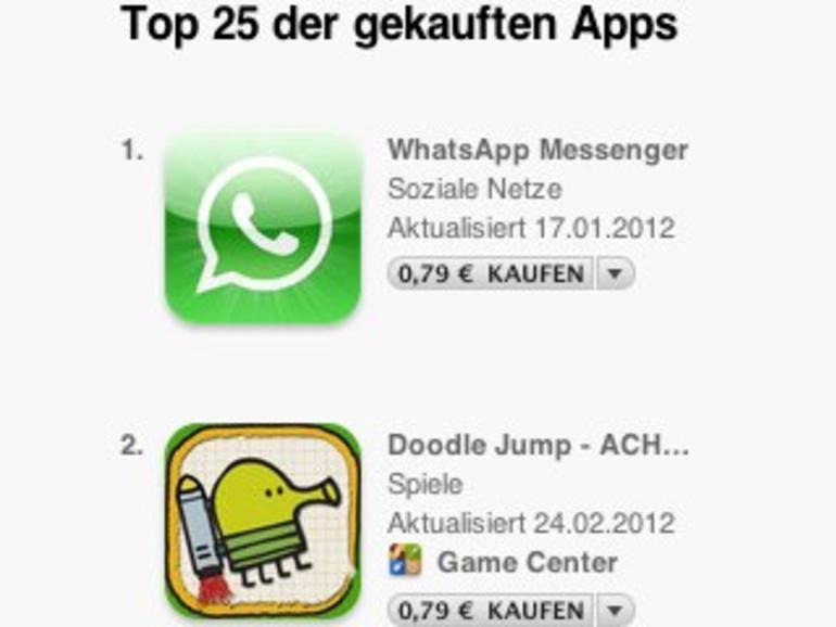 Die erfolgreichsten iOS-Apps: Apple veröffentlicht Allzeit-Top-25