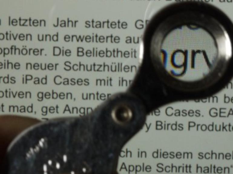 Spiegel Online nimmt das neue iPad unter die Lupe - wörtlich.