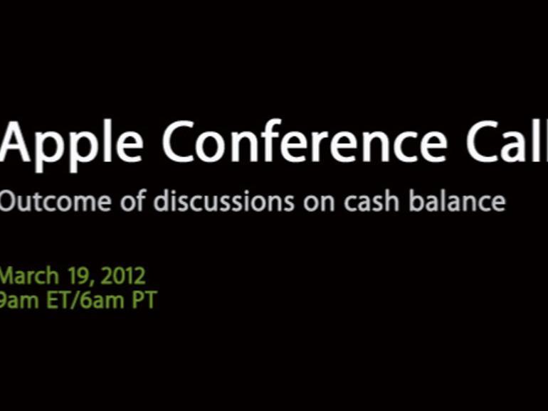 Der Apple Conference Call vom 19. März in der Zusammenfassung