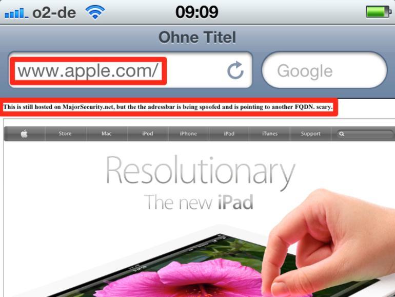 iOS 5.1: Sicherheitslücke in Safari entdeckt