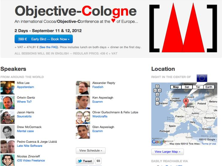 Objective-Cologne: Mac- und iOS-Konferenz zu Cocoa und Objective-C