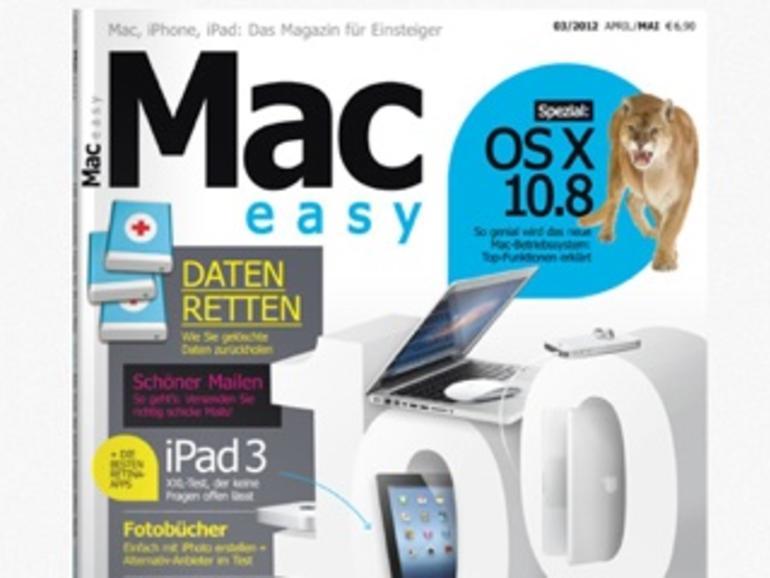 MAC easy 03.2012: 100 Top-Tipps, VHS & LPs digitalisieren, Fotobücher-Workshop und vieles mehr