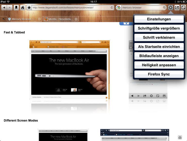 Die besten Safari-Alternativen für iPad-Anwender