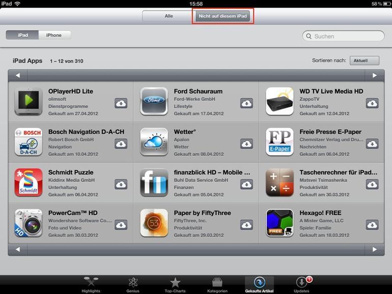 iOS-Tipp: Versehentlich gelöschte Apps wiederherstellen