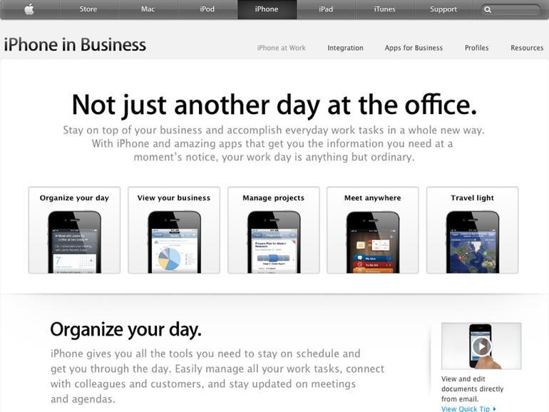 Apple rührt die Werbetrommel: Das iPhone im Business-Einsatz