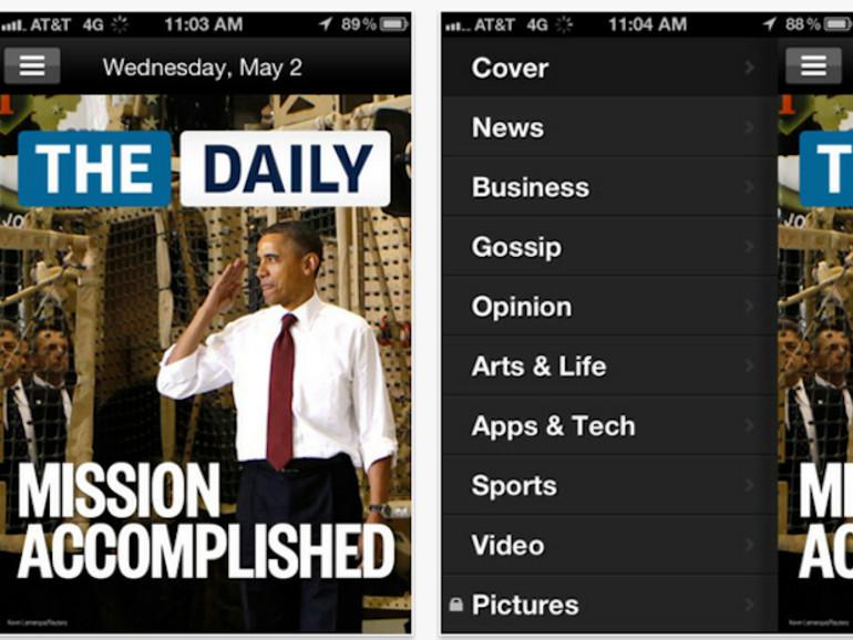 "Halber Preis: iPad-Tageszeitung ""The Daily"" auf dem iPhone"