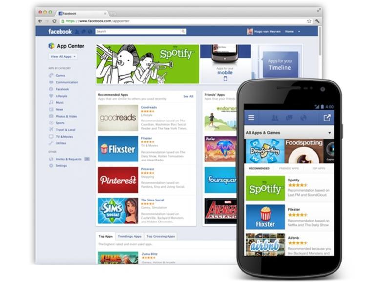 App Center: Facebook verkauft Web-Apps