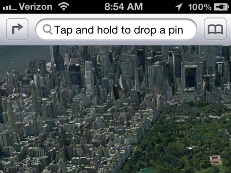 iOS 6: Fotos zeigen ersten verschwommenen Blick auf neue 3D-Karten-App
