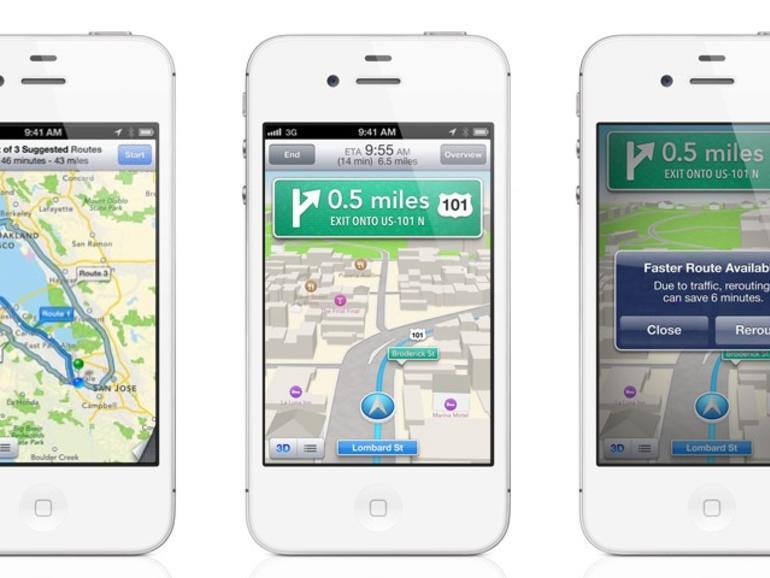 iOS 6: Kostenloses Navi & 3D-Karten